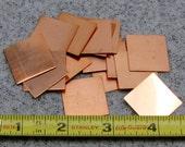"1"" Copper Square 24 Gauge  Pack of 18"
