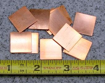 "3/4"" Copper Square 24 Gauge  Pack of 12"