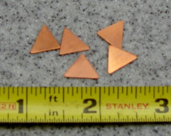 18.7 x 18.5mm Copper Triangle 24 Gauge  Pack of 5