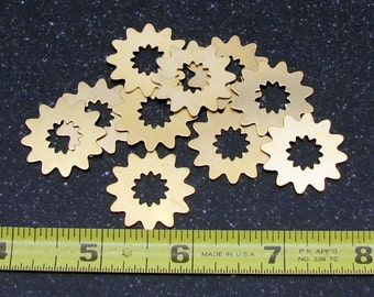 24.5mm Brass Flower 24 Gauge  Pack of 10
