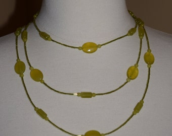 Chartreuse Beaded Necklace