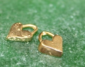 Tiny Heart CHARM in 14K plate CH22G