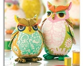 Heather Bailey Edgar Owl and Poe Pincushion Sewing Pattern, FREE SHIPPING