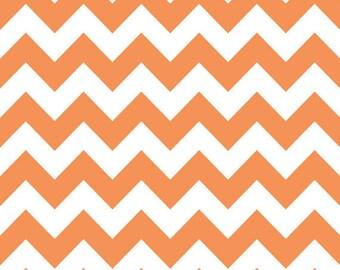 Riley Blake Medium Chevron Orange Fabric, 1 yard