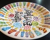 Family Birthday Plate - 10 Inch Ceramic Plate