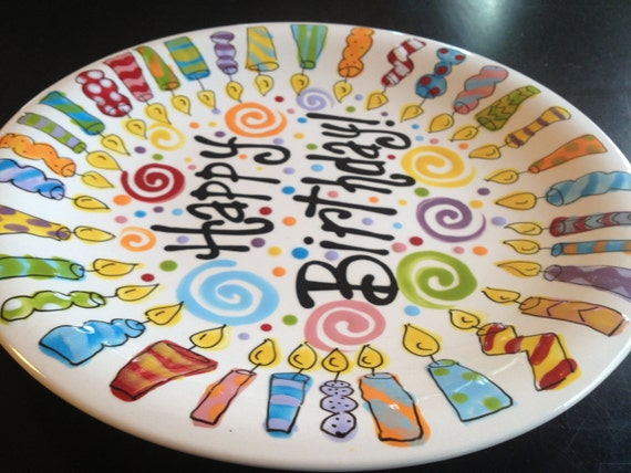 Family Birthday Plate 10 Inch Ceramic Plate
