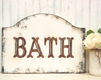 Bathroom Sign Texture wooden bathroom sign | etsy