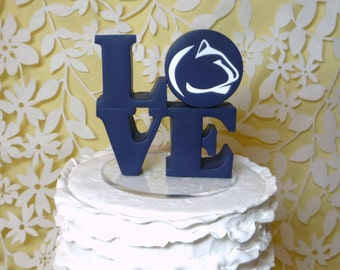 love wedding cake topper with logo