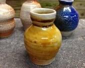 Miniature Vase Amber Soda Glazed Stoneware