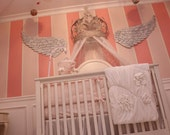 """Wooden Carved Angel Wings in Brooke Large 6ft 2"""" x 1ft 8"""" x 3/4"""
