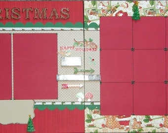 CLEARANCE  12x12 Double Page Christmas Layout (D)
