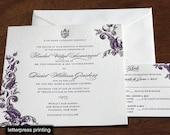 Sindhu Letterpress or Digital Wedding Invitations - Set of 100
