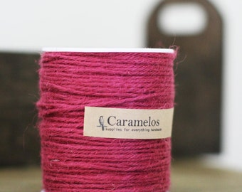100 yds of Natural Ruby Tone Jute Twine Cord