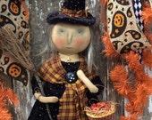 SALE Primitive Halloween Witch Doll PFATT EHAG