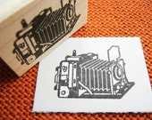 Camera Rubber Stamp //  Antique Camera // Photography Rubber Stamp - Handmade by BlossomStamps