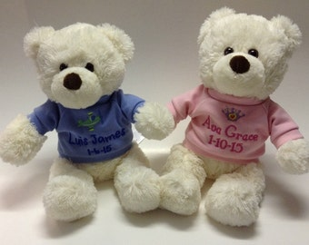Personalized Teddy Bear (sold seperatly,not as a pair)