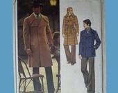 Vintage 70s Vogue Pierre Cardin Uncut Pattern Mens Coat 40