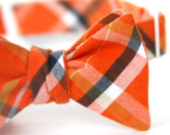 orange & black freestyle bow tie for the little guy