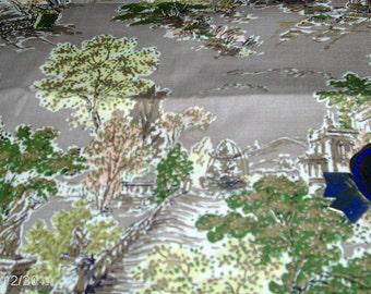 vintage  BARK cloth - with original tag