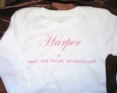 Custom Name Baby Girl Onesie New Baby Personalized Gift