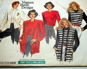Vogue Sewing Pattern Jacket Uncut Ladies