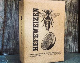 Hefeweizen Beer Soap ~ Honey Citrus