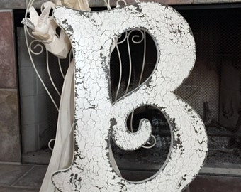 LETTER B 2 ft tall Wedding Guest Book or Home Decor - Save the Date, ANY LETTER A - Z