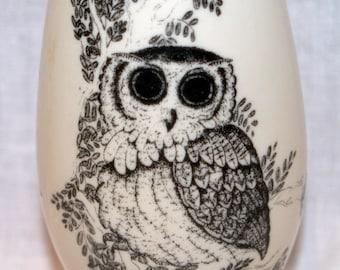 Vintage Small World Greetings Owl Vase