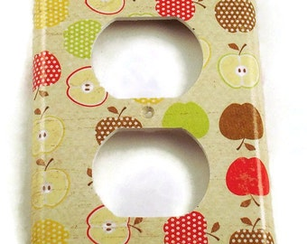 Light Switch Cover Outlet  Wall Decor Switch Plate Switchplate in  An Apple A Day (081O)