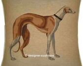Greyhound Tan Tapestry Cushion Cover Sham