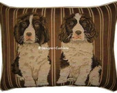 Springer Spaniel Puppies Stripe Oblong Tapestry Cushion Pillow Cover