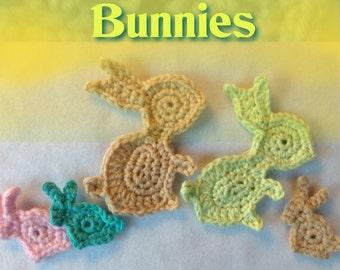 New Crochet Pattern - Easter Bunny Pattern Set 2 Bunnies to Crochet - Instant Download