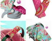 Package Deal- Infant Car Seat Cover, Baby Car Seat Cover in ANY FABRIC