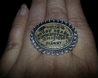 Ouija, Ouija ring, Ouija board, supernatural, lolita, Spirit board, Ouija clip, witch, witch ring