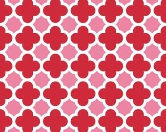 Quatrefoil in Red/Hot Pink (C435-14)