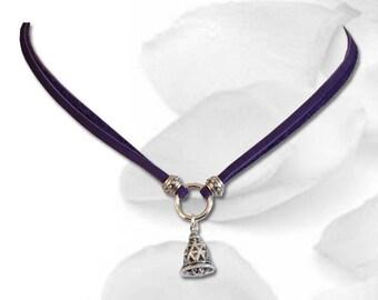 Purple BDSM Collar Sweet Little Slave Bell Submissive Collar BDSM Slave Collar Purple Collar BDSM Jewelry