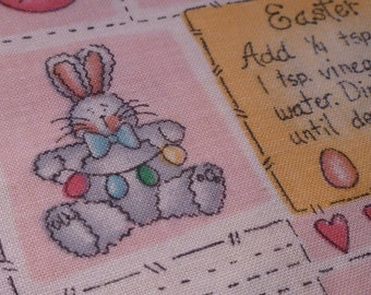 Easter Medley - Vintage Fabric - Cotton - Pink - Dianna Marcum - Marcus Brothers