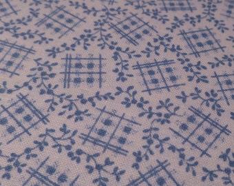 Cornflower Blue Tradition - Vintage Fabric - Cotton
