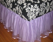 Custom Listing for Stephanie - Size Tulle bedskirt in Lilac Purple