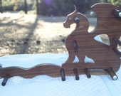 Card/Inkle weaving loom package - Dragon on Walnut