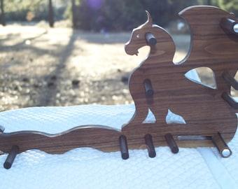 Card/Inkle weaving loom package - Dragon on Walnut