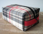 Plaid Dopp Kit, Toiletry Bag, Cosmetic Bag, Made in Maine
