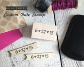 Custom Date Stamp - Hand Carved Rubber Stamp - Your Wedding Date / Special Occasion - CHOOSE font & size - Great for Favors / Save the Dates