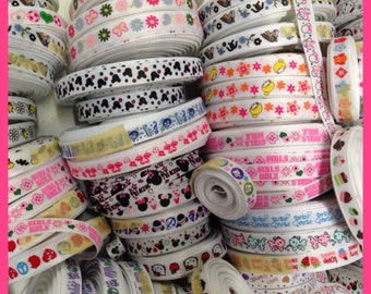 "Grab Bag 100 yards 3/8"" grosgrain ribbon great starter set or craft show must haves TWRH"