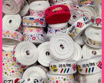 "Grab Bag 100 yards 7/8"" grosgrain ribbon great starter set or craft show must haves TWRH"