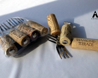 Wine Cork Stainless Steel Party Forks