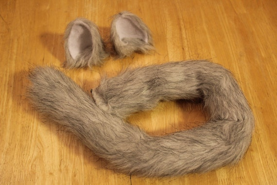 INSTOCK Grey/Black CaT COSTUME - Anime, Cosplay, Furry, Plushie, Halloween, Burning Man
