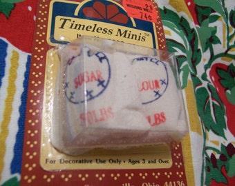 timeless minis flour and sugar sacks