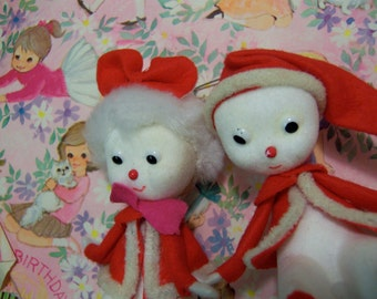 adorable styrofoam and felt pair