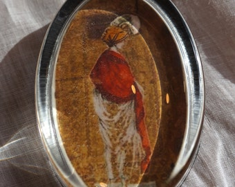 Sophisticated Edwardian Lady Paperweight